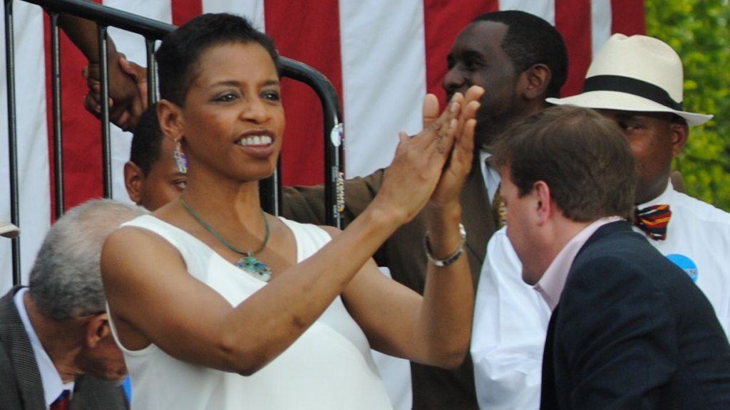 Rep. Donna Edwards at a campaign event.
