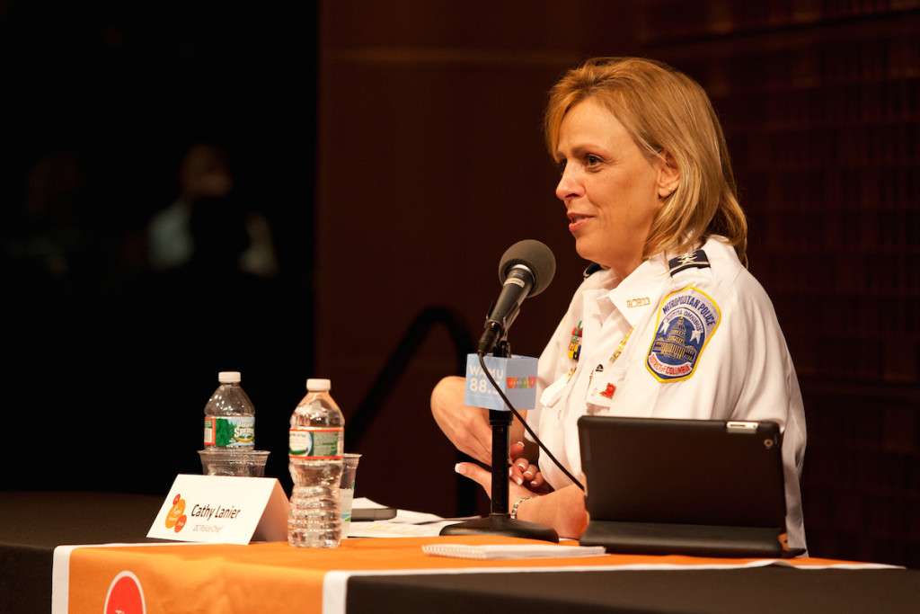 D.C. Police Chief Cathy Lanier at a Kojo In Your Community event on Wednesday, March 13, 2014 at NPR's headquarters in Washington, DC.