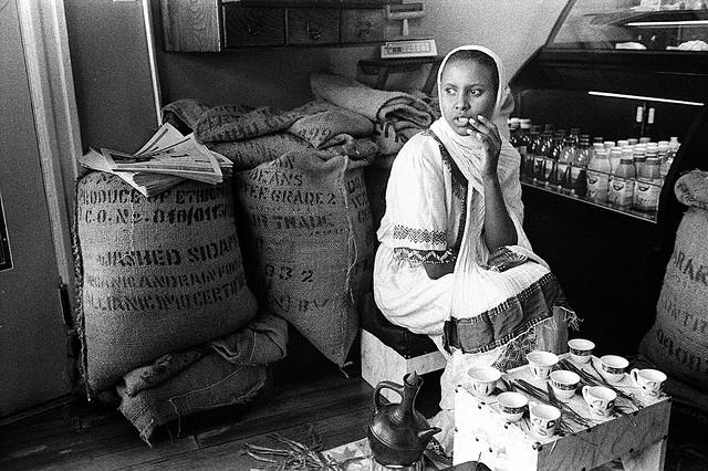 The weekly Ethiopian coffee-roasting ceremony at Sidamo Coffee & Tea on H Street NE in Washington, D.C.