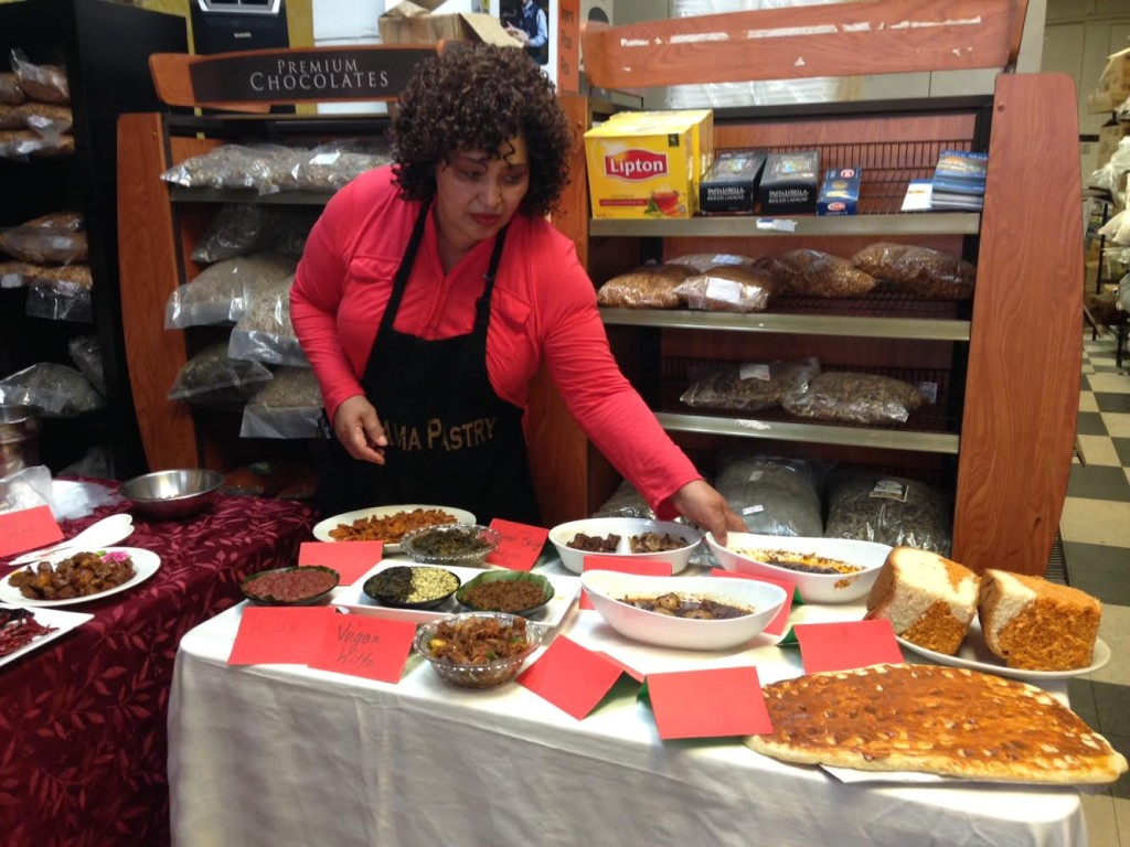 Almaz Dama demonstrates a variety of dishes that highlight Ethiopian spices.