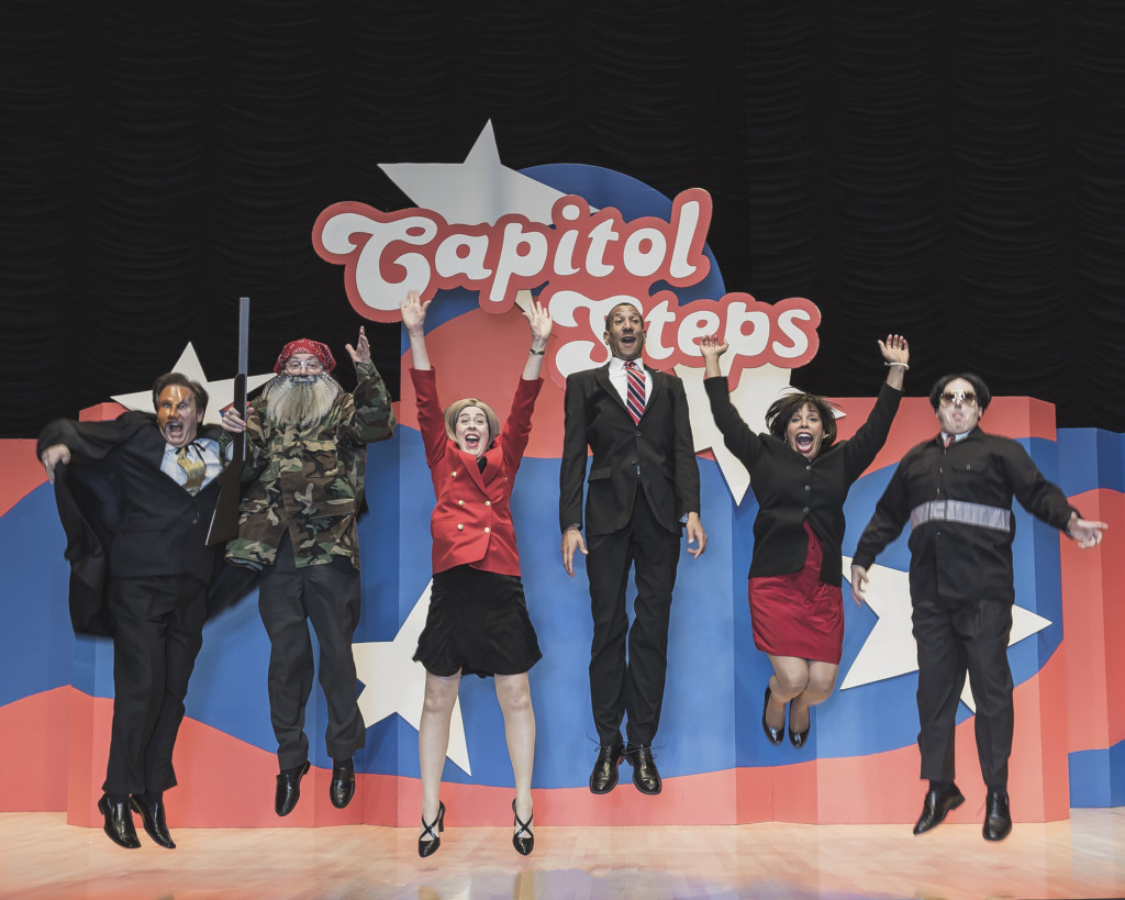 The Capitol Steps comedy troupe is made up of current and former Capitol Hill staffers.