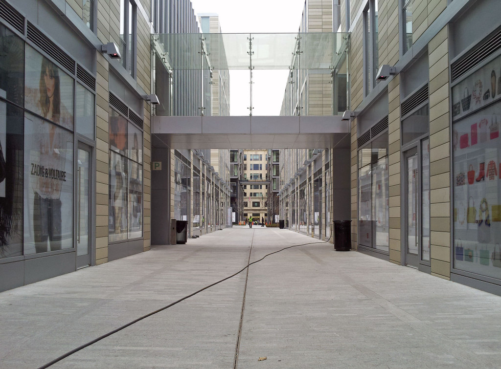 A view of the retail area of CityCenterDC in April of this year.