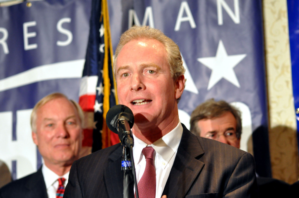 Maryland's Chris Van Hollen speaks on Election Day. He'll be back for another term in Congress.