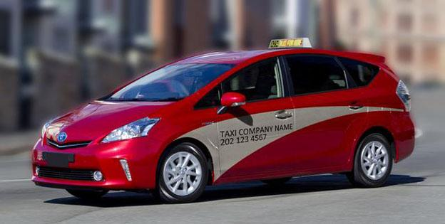 D.C.'s taxi commission released this rendering of its new color scheme last year.