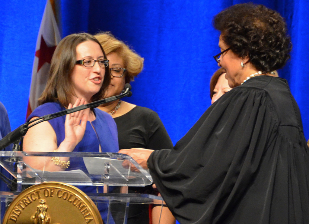 """New D.C. Council member Brianne Nadeau, one of our """"Politics Hour"""" guests today, takes the oath of office on Jan. 2."""