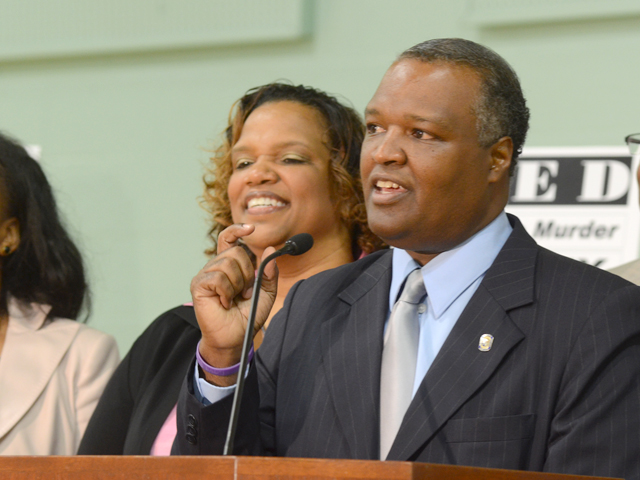 Baker speaks at an event in Prince George's County in 2011.