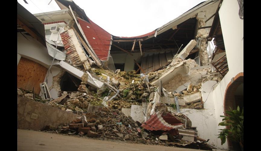 Hotel rubble