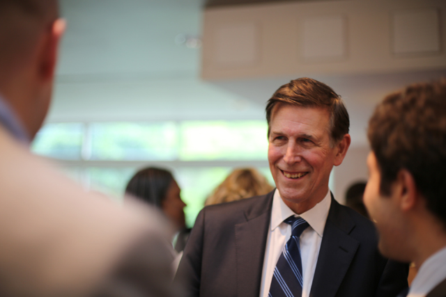 Don Beyer at a political event last May, while he was running for his first term in Congress.
