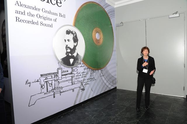 """Carlene Stephens leads a tour in January of """"Hear My Voice: Alexander Graham Bell and the Origins of Recorded Sound."""""""