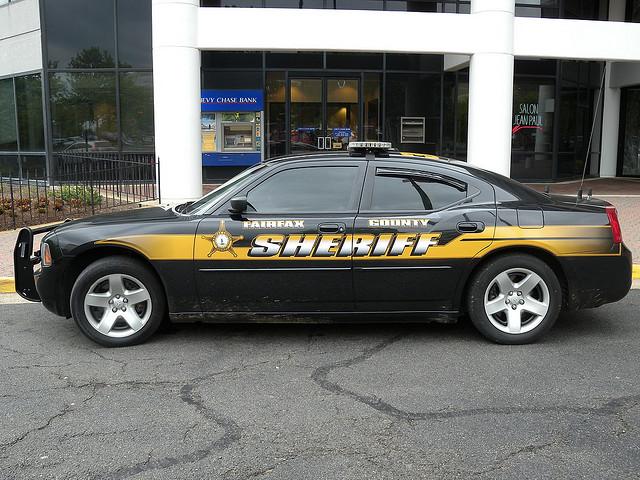 A Fairfax County Sheriff's patrol car.