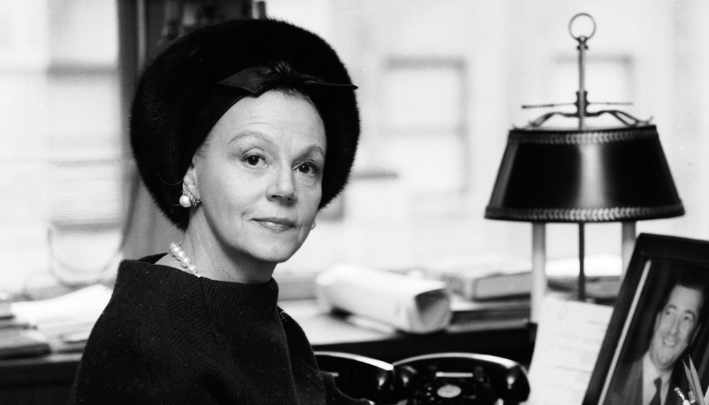 Fashion publicist Eleanor Lambert poses in this Dec. 23, 1963 photo. Lambert helped bring American designers out of the garment districts back rooms and surrounded them with glamour.