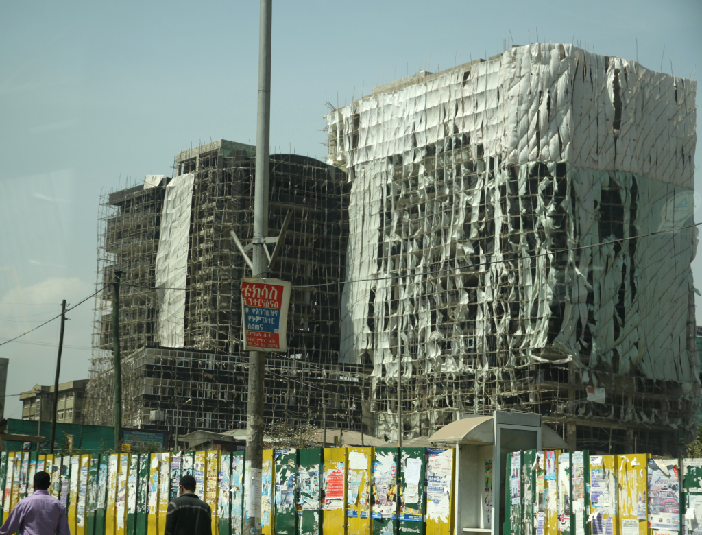 A construction site in Addis Ababa, which is undergoing a massive urban transformation. Photo by Michael Martinez.