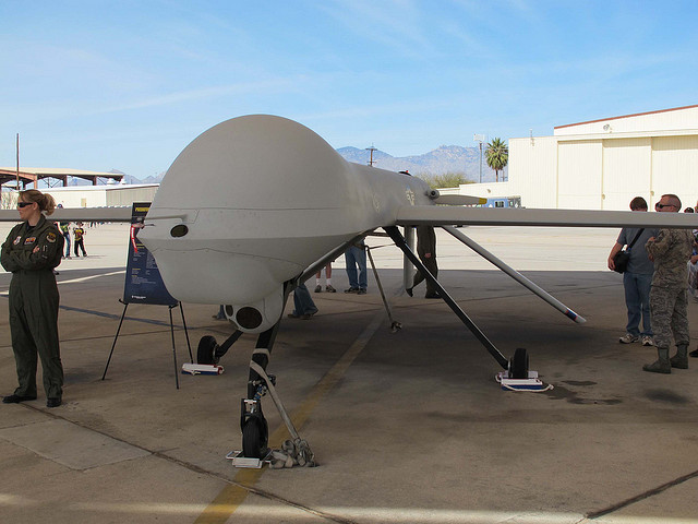 A predator drone at the Davis-Monthan Air Force Base in Tucson, Ariz.