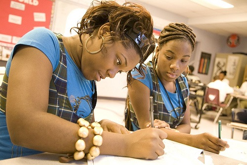 10th grade students in World History class at Friendship Public Charter School.