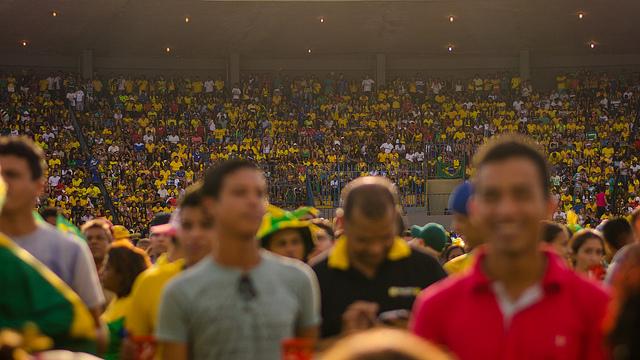 FIFA FanFest in Cuiabá, Mato Grosso, Brasil.