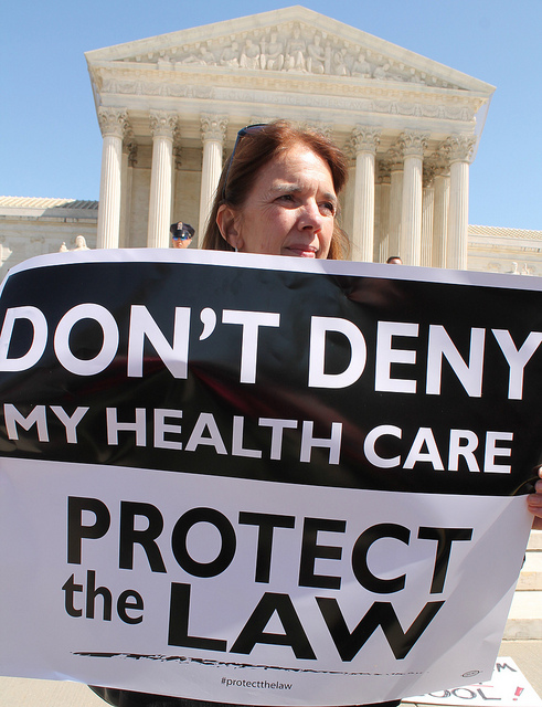 Health care reform  protesters at the U.S. Supreme Court in 2012.