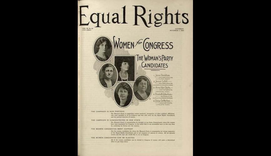 Equal Rights NWP periodical November 1 1924