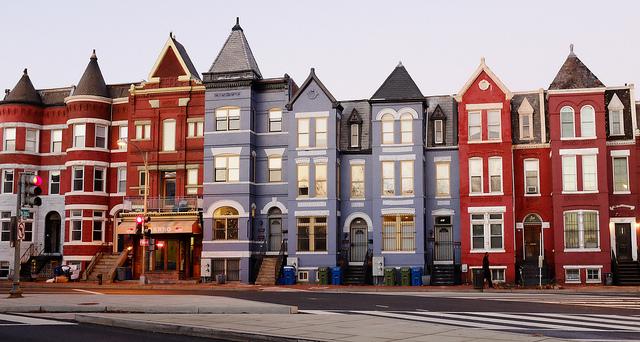 LeDroit Park row houses in Washington D.C.