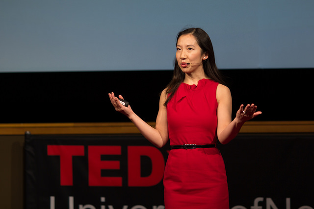 Leana Wen at a TED talk at the University of Nebraska.