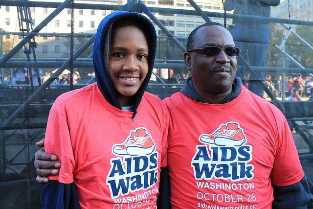 Participants in the 27th Annual AIDS WALK / DC in 2013.