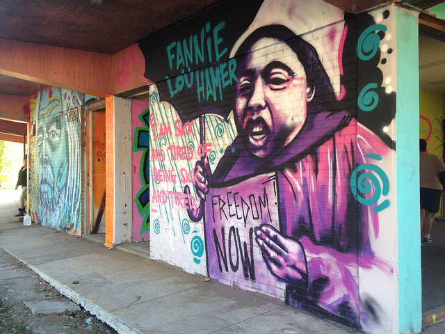 A New Orleans mural honors the legacy of Fannie Lou Hamer.
