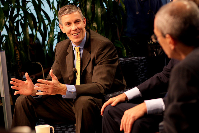 U.S. Secretary of Education Arne Duncan at a 2009 Center for American Progress event.