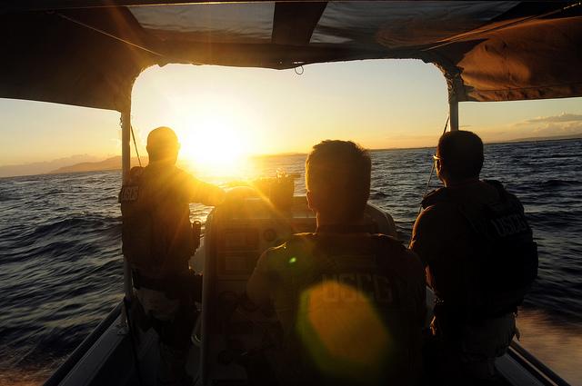 A U.S. Coast Guard vessel patrolling Guantanamo Bay in 2010.