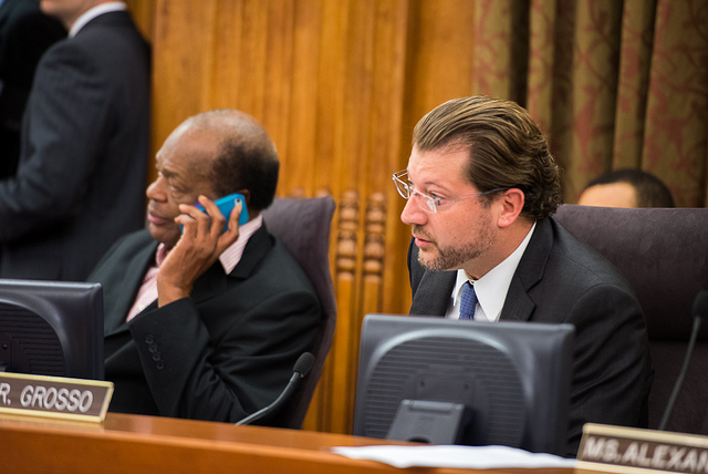 City council member David Grosso at a D.C. city council meeting.