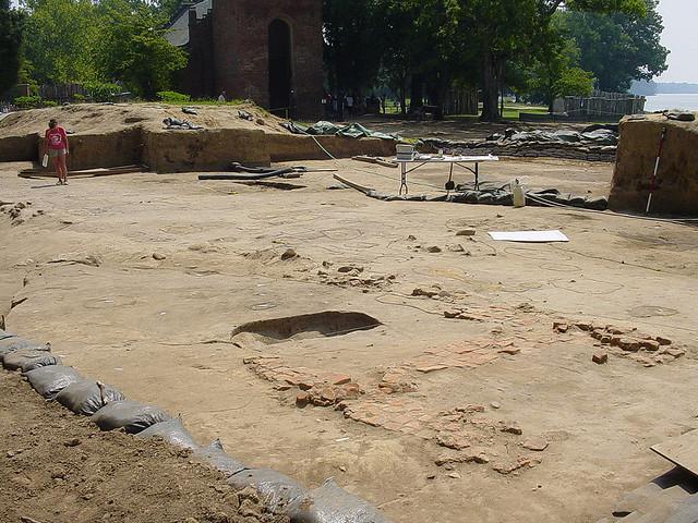 Digging site at historic Jamestown.