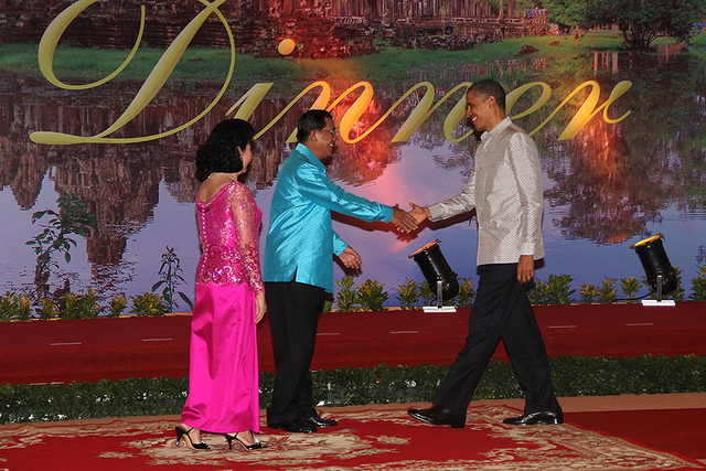 President Barack Obama at the 21st Association of Southeast Asian Nations (ASEAN) summit in Phnom Penh, Cambodia, in 2012.