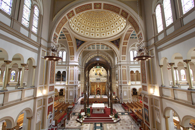 The Memorial Church of the Holy Sepulchre, part of the Franciscan Monastery in Washington D.C.