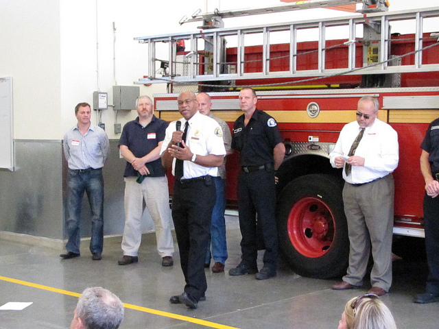 D.C. Fire and EMS Chief Gregory Dean (center).
