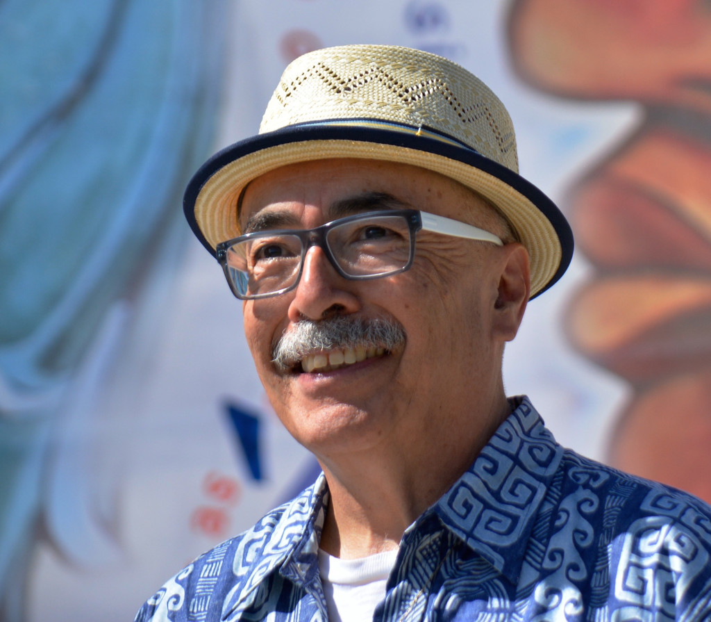Juan Felipe Herrera at the Unity Poem Fiesta.