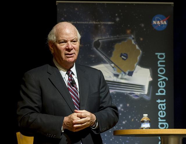 U.S. Senator Ben Cardin at NASA Goddard in 2013.