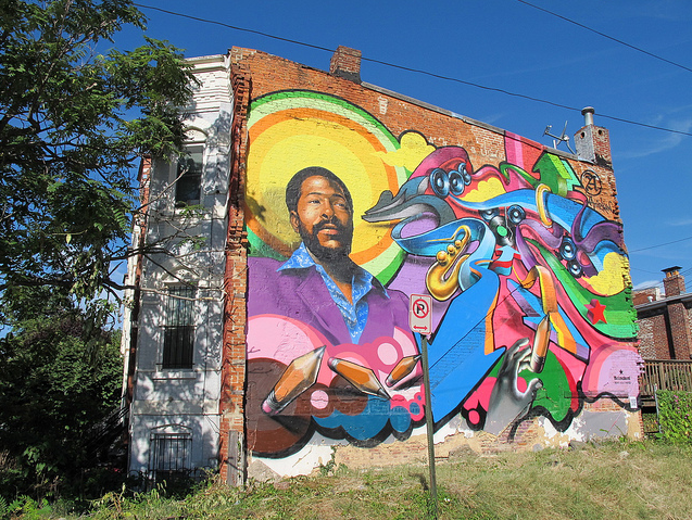 D.C.'s old Marvin Gaye mural on S Street NW.