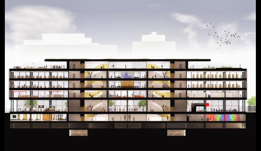 Martin Luther King Jr Memorial Library Schematic Design 30