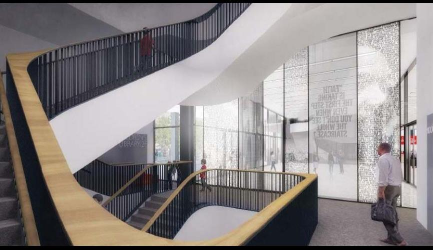 Martin Luther King Jr Memorial Library Schematic Design 4