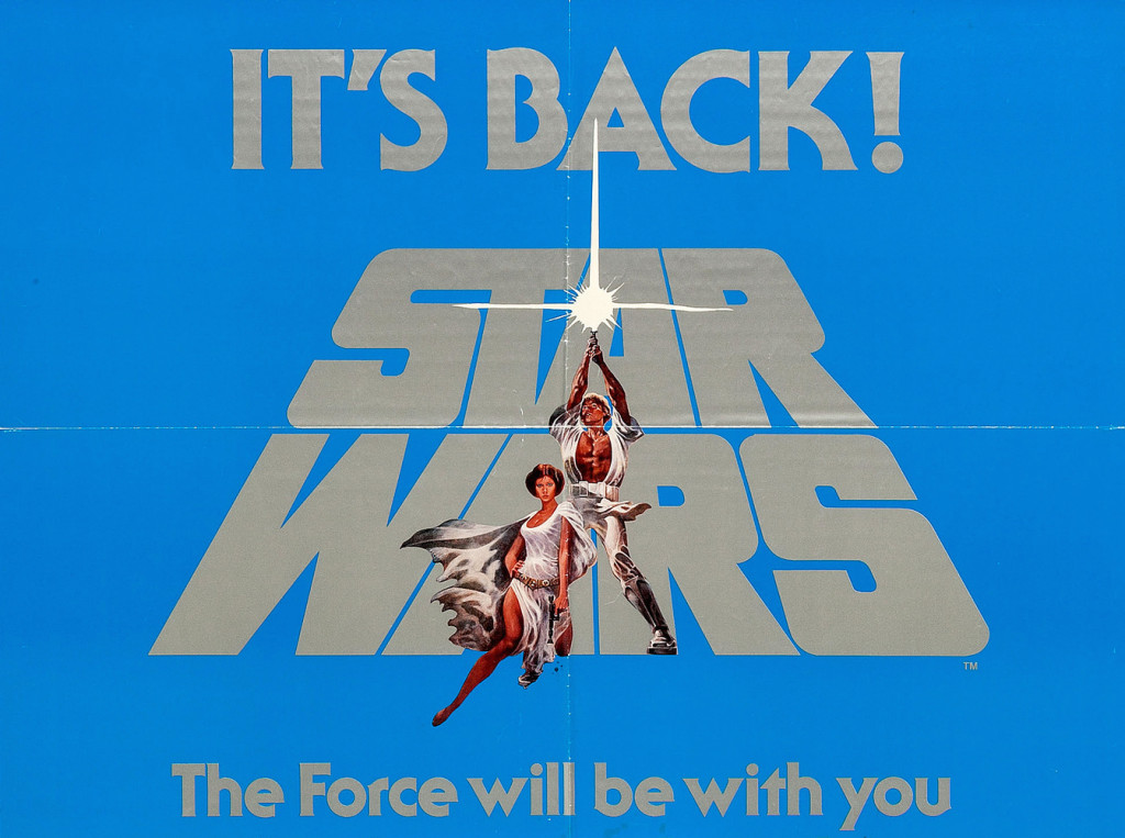 """A 1977 poster for the re-release of """"Star Wars."""""""