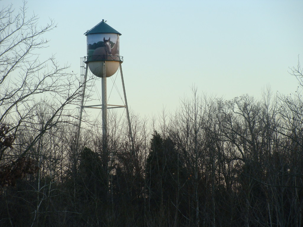 A water tower in Upper Marlboro in Prince George's County, Md.