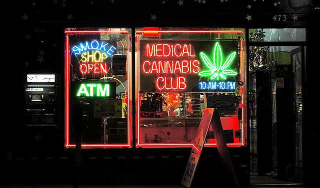 A medical cannabis club on Haight St. in San Francisco, Calif.