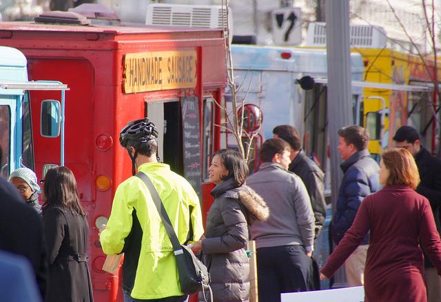 Food trucks on Capitol Hill in Washington, D.C.