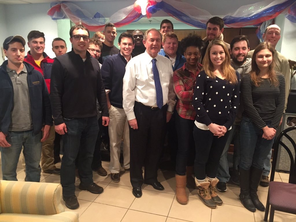 My Presidential Elections class with former presidential candidate Gov. Jim Gilmore (center).