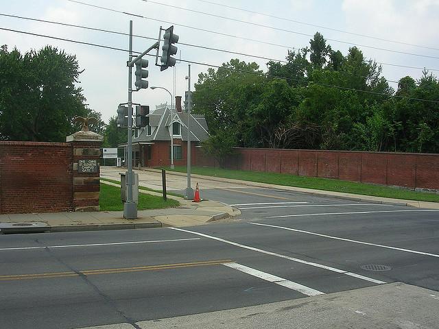 A gate to St. Elizabeths Hospital, a former mental hospital in Southeast Washington, D.C.