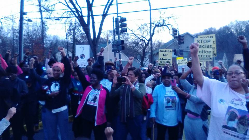 A December protest calls for community policing and more transparency  in the investigation of Alonzo Smith's death.