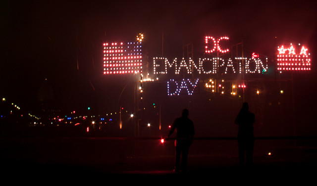 D.C. Emancipation Day fireworks in 2013.