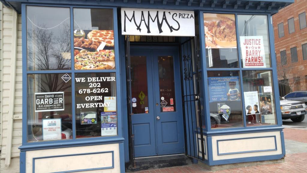 Mama's Pizza in Anacostia.