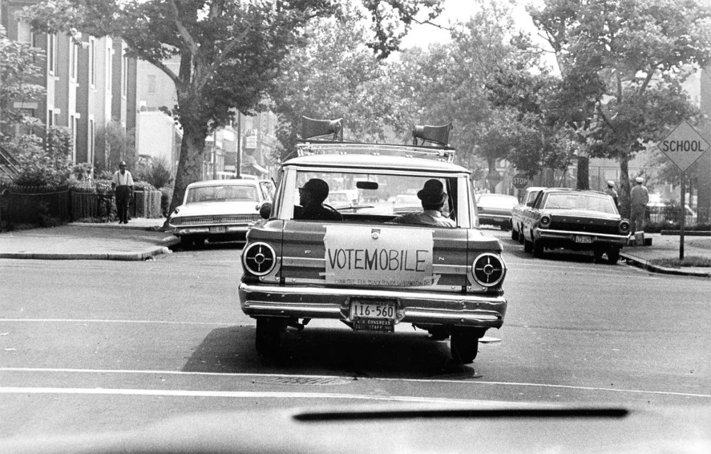 Washington Committee Black Power's Vote mobile in 1967.