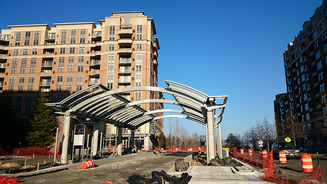 Construction in Potomac Yard in March, 2015.