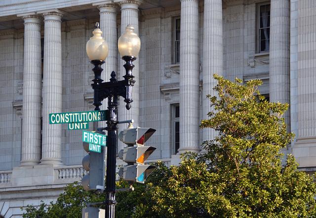 Constitution Ave & First St. in Washington D.C. NE