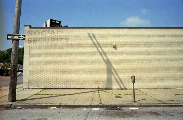 An abandoned Social Security office in Brooklyn, NY.